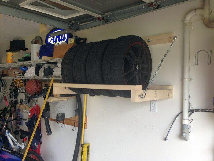 как правильно хранить шины в гараже