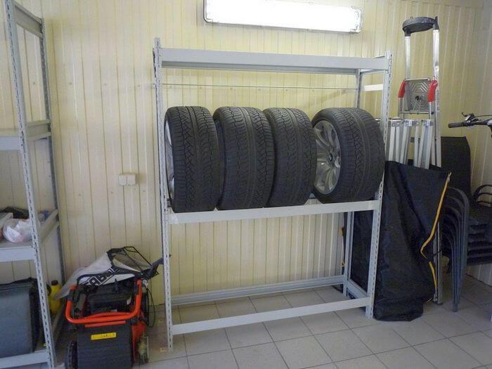 как правильно хранить резину на дисках в гараже
